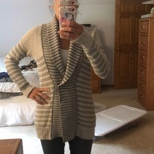 Button wrap sweater